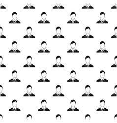 Man with identity name card pattern simple style vector image