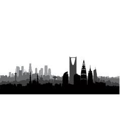 riyadh city skyline cityscape silhouette vector image vector image
