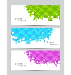 Set of banners with textures vector image