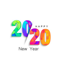 2020 new year colour banner logo for holidays vector image