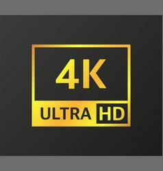 4k uhd quad hd full hd and hd resolution vector