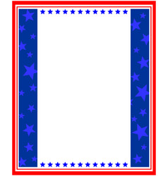 Abstract american flag patriotic symbols frame vector