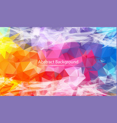 abstract colorful polygonal surface background vector image