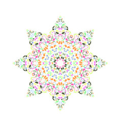 Abstract petal star shape - geometrical colorful vector
