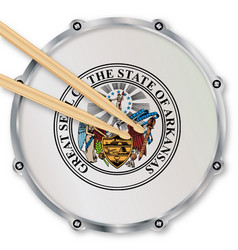 Arkansas snare drum vector