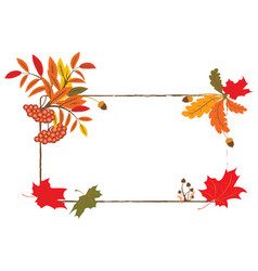 Autumnal frame vector