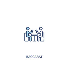 Baccarat concept 2 colored icon simple line vector
