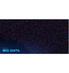 Big data visualization data stream crumbling down vector