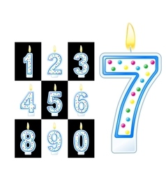 Birthday candles number vector image