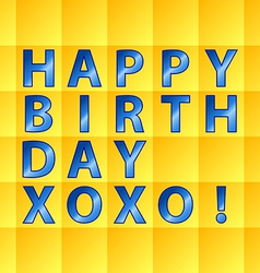 Birthday card-yellow squares vector image