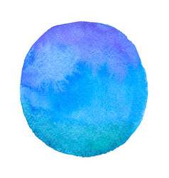 blue round watercolor blob vector image