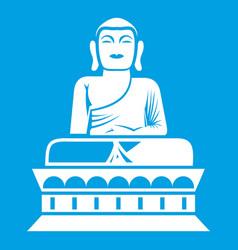 buddha statue icon white vector image