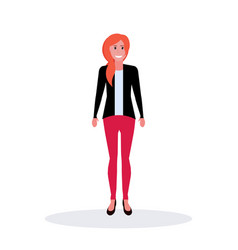Businesswoman standing pose business woman office vector