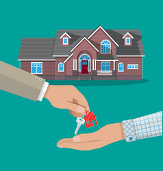 Buy rental or lease a house real estate vector