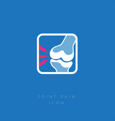 cartilage damage arthritis icon pain vector image