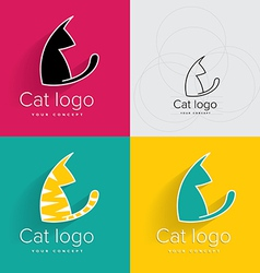 Cat logo or symbol vector image