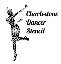 Charlestone dancer stencil vector