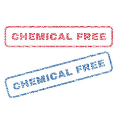 chemical free textile stamps vector image