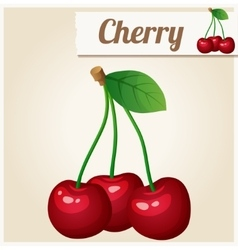 Cherry Detailed Icon vector
