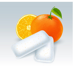 Chewing gum with orange flavor vector