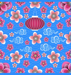 Chinese new year chinese lantern chinese clouds vector