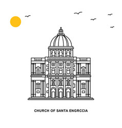Church of santa engrccia monument world travel vector