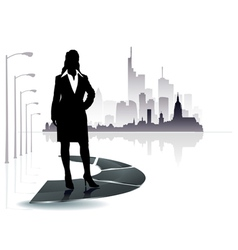 city people icon vector image