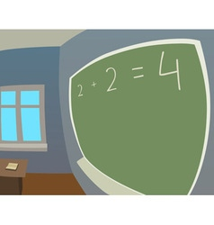 Classroom in fisheye vector