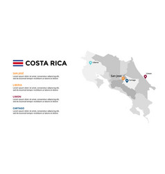 costa rica map infographic template slide vector image