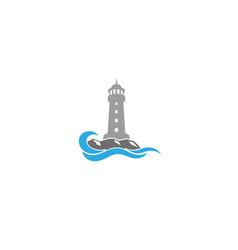 creative lighthouse logo design vector image