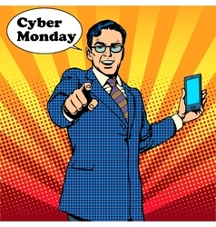 Cyber Monday the seller is encouraged to buy vector