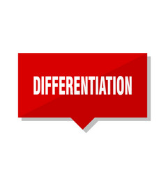 differentiation red tag vector image