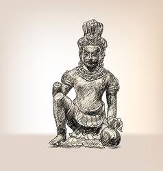 Drawing of Vishvakaman vector