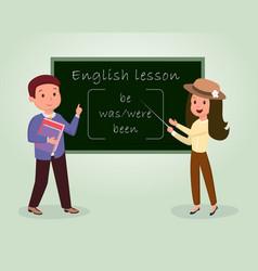 English lesson flat tutor vector