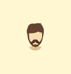 fashionable beard icon flat element vector image