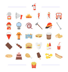 Fast food cafe business and other web icon in vector