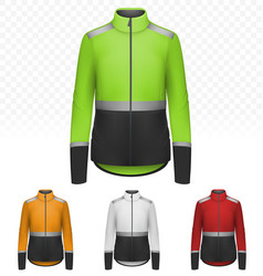 Female reflective jacket isolated on transparent vector