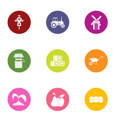 field icons set flat style vector image