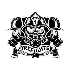 Firefighters sign on a white vector