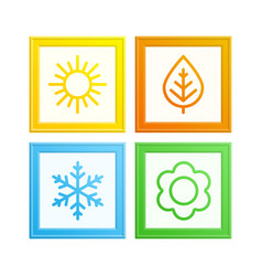 Frame of seasons vector