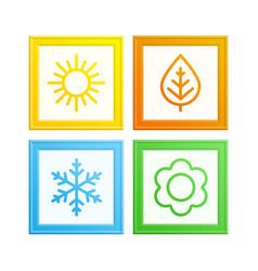 frame seasons vector image