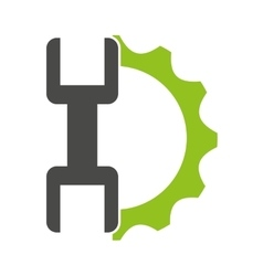 Gears with wrench isolated icon design vector