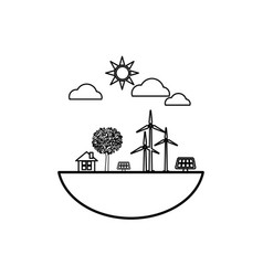 Green energy ecology vector