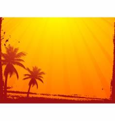 grunge summer sunset vector image