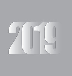 happy new year 2019 text vector image