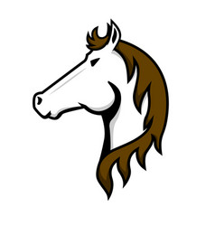 horse head sign on white background design vector image