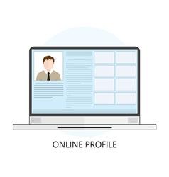 Icon Online Profile vector