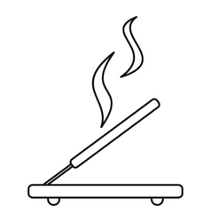 Incense sticks icon outline style vector