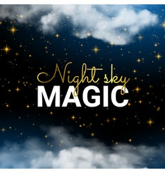 Infinity Magic Night Sky Cloud Blue Background and vector