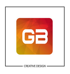 Initial gb letter logo template design vector
